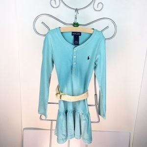 Preowned Ralph Lauren Long Sleeve Belted Dress